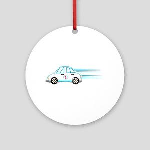 Race Car Beetle Ornament (Round)
