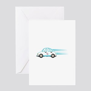 Race Car Beetle Greeting Cards