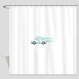 Race Car Beetle Shower Curtain