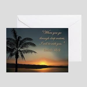 ISAIAH 43:2 Greeting Card