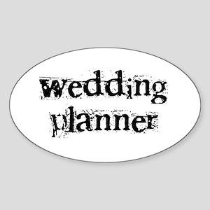 Wedding Planner Oval Sticker