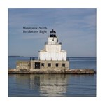 Manitowoc North Breakwater Light Tile Coaster
