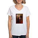 Lincoln's Ruby Cavalier Women's V-Neck T-Shirt