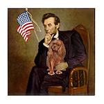 Lincoln's Ruby Cavalier Tile Coaster