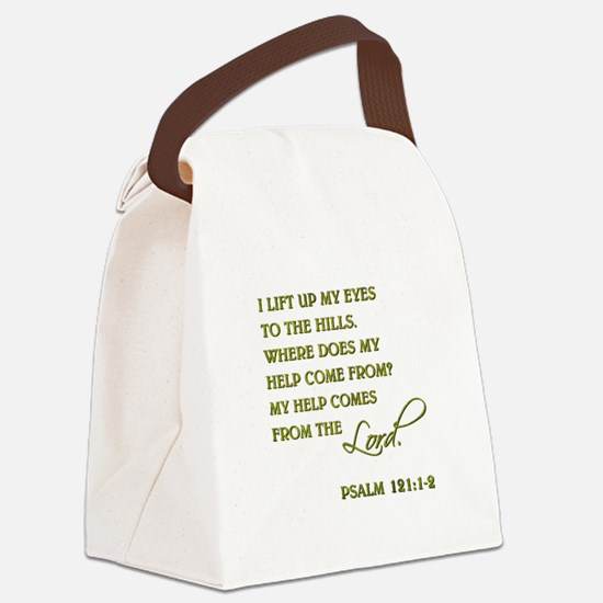 PSALM 121:1-2 Canvas Lunch Bag