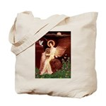 Seated Angel & Ruby Cavalier Tote Bag
