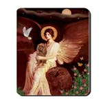 Seated Angel & Ruby Cavalier Mousepad