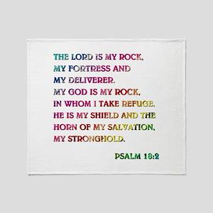 PSALM 18:2 Throw Blanket