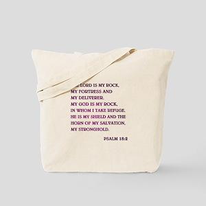 PSALM 18:2 Tote Bag