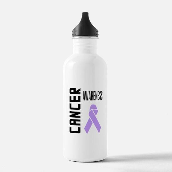 Unique Cancer lavender ribbon Water Bottle