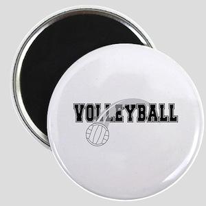 Black Veolleyball Swoosh Magnet