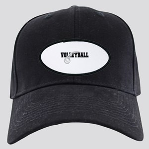 Black Veolleyball Swoosh Black Cap