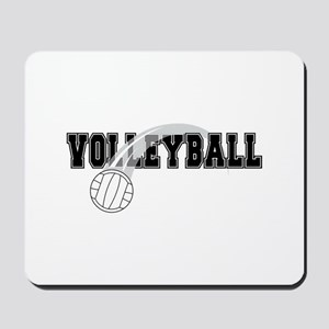 Black Veolleyball Swoosh Mousepad