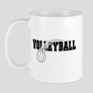Black Veolleyball Swoosh Mug