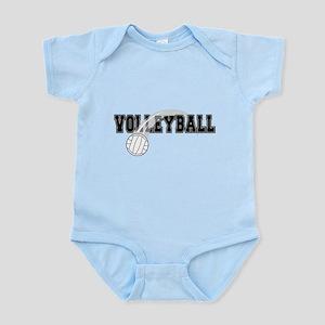 Black Veolleyball Swoosh Infant Bodysuit