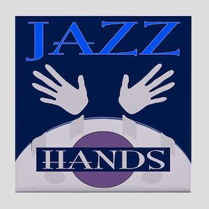 Jazz Hands Tile Coaster