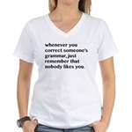 Nobody Likes When You Corre Women's V-Neck T-Shirt