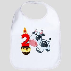 2nd Birthday Party Cow Bib