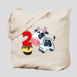 2nd Birthday Party Cow Tote Bag
