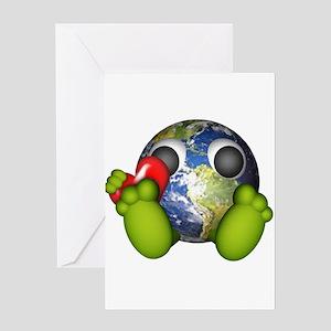 Love The Earth Greeting Card
