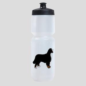 Tri Color Bernese Dog Sports Bottle