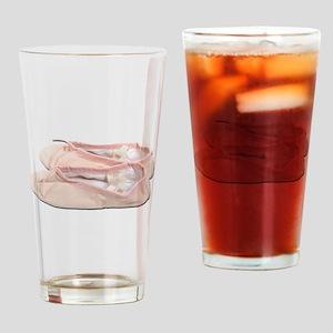 PinkBalletSlippers022111 Drinking Glass