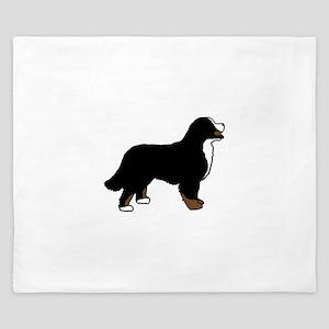 Tri Color Bernese Dog King Duvet