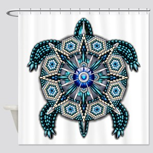 Native American Turtle 01 Shower Curtain