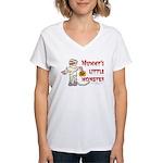 Mummy's Little Monster (boy) Women's V-Neck T-Shir