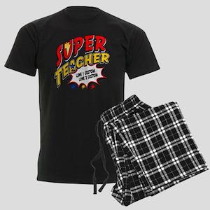 Teacher Super Hero Men's Dark Pajamas