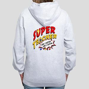 Teacher Super Hero Women's Zip Hoodie