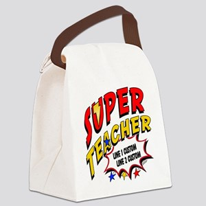 Teacher Super Hero Canvas Lunch Bag