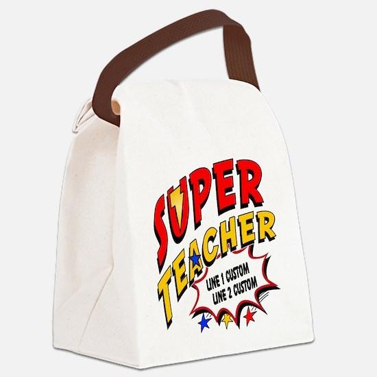 Teacher Super Hero Canvas Lunch Bag