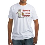 Mummy's Little Monster (boy) Fitted T-Shirt