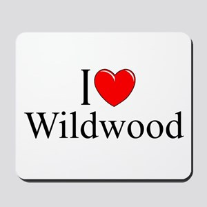"""I Love Wildwood"" Mousepad"