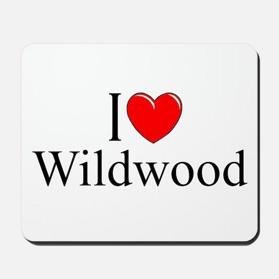 """I Love Wildwood"" Mousepad"