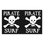 Pirate Surf Argg 2-4-1 Rectangle Sticker