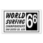 World Surf Championship 66 Rectangle Sticker