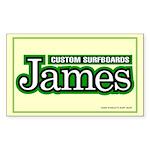 James Custom Surf Rectangle Sticker