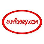 surfcrazy.com Oval Sticker
