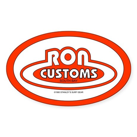 Ron Customs Oval Sticker