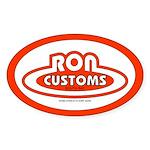 Ron Customs Oval Sticker
