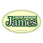 James Custom Surf Oval Sticker
