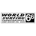 World Surf Championship 66 Bumper Sticker