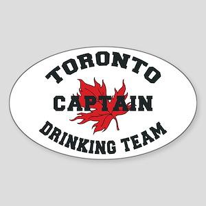 Toronto Drinking Team Captain Oval Sticker