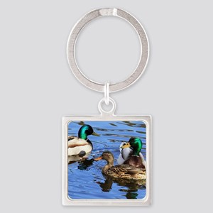 Mallards Square Keychain