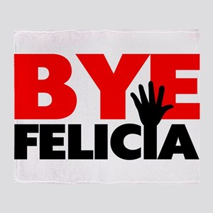 Bye Felicia Hand Wave Throw Blanket