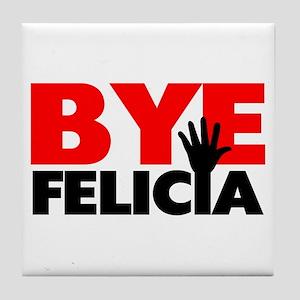 Bye Felicia Hand Wave Tile Coaster