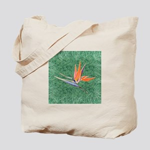 Green Bird of Paradise Tote Bag