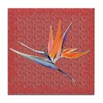 Red Bird of Paradise Tile Coaster